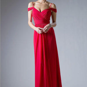Red Sweetheart Bridesmaid Long Dress